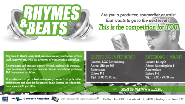 Rhymes & Beats website banner