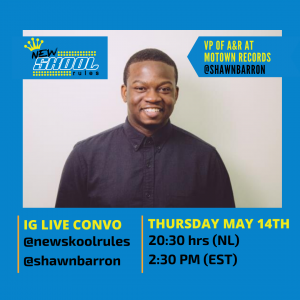 Shawn Barron - IG LIVE - Flyer